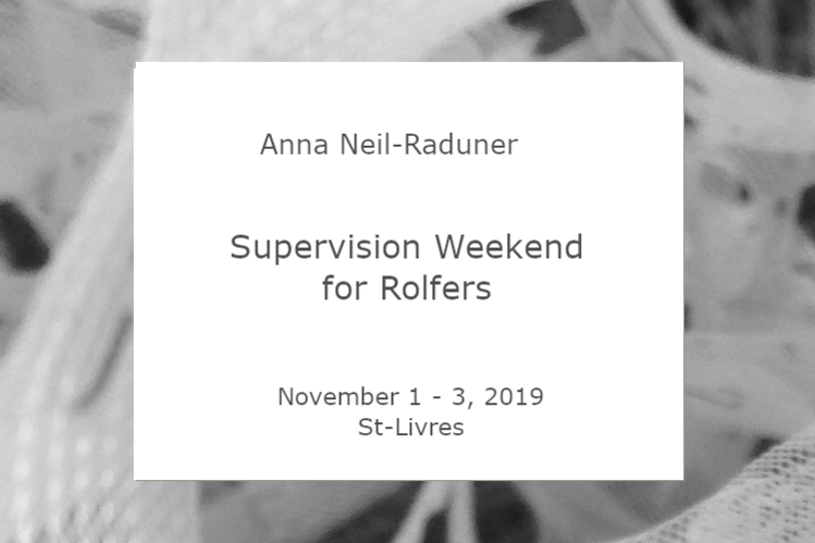 Anna Neil-Raduner - Supervision Weekend